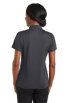 CornerStone CS422 Womens Gripper Moisture Wicking Short Sleeve Polo Shirt Iron Grey Back