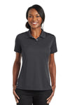 CornerStone CS422 Womens Gripper Moisture Wicking Short Sleeve Polo Shirt Iron Grey Front