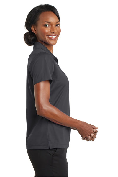 CornerStone CS422 Womens Gripper Moisture Wicking Short Sleeve Polo Shirt Iron Grey Side