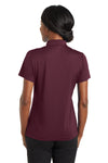 CornerStone CS422 Womens Gripper Moisture Wicking Short Sleeve Polo Shirt Maroon Back