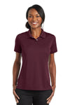 CornerStone CS422 Womens Gripper Moisture Wicking Short Sleeve Polo Shirt Maroon Front