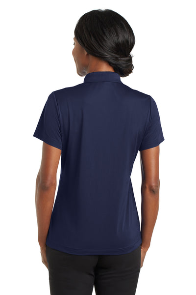 CornerStone CS422 Womens Gripper Moisture Wicking Short Sleeve Polo Shirt Navy Blue Back