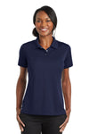 CornerStone CS422 Womens Gripper Moisture Wicking Short Sleeve Polo Shirt Navy Blue Front