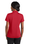 CornerStone CS422 Womens Gripper Moisture Wicking Short Sleeve Polo Shirt Red Back