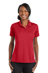 CornerStone CS422 Womens Gripper Moisture Wicking Short Sleeve Polo Shirt Red Front