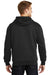 CornerStone CS620 Mens Full Zip Hooded Sweatshirt Hoodie Black Back