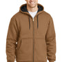 CornerStone Mens Duck Brown Full Zip Hooded Sweatshirt Hoodie