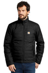 Carhartt CT102208 Mens Gilliam Wind & Water Resistant Full Zip Jacket Black Front