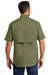 Carhartt CT102417 Mens Force Ridgefield Moisture Wicking Short Sleeve Button Down Shirt w/ Double Pockets Olive Green Back