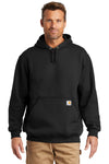 Carhartt CTK121 Mens Hooded Sweatshirt Hoodie Black Front