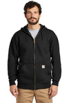 Carhartt CTK122 Mens Full Zip Hooded Sweatshirt Hoodie Black Front