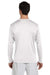 Champion CW26 Mens Double Dry Moisture Wicking Long Sleeve Crewneck T-Shirt White Back