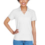 Devon & Jones Womens Short Sleeve Polo Shirt - White