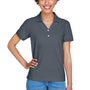 Devon & Jones Womens Short Sleeve Polo Shirt - Graphite Grey
