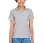 Devon & Jones Womens Short Sleeve Polo Shirt - Heather Grey