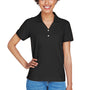 Devon & Jones Womens Short Sleeve Polo Shirt - Black