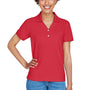 Devon & Jones Womens Short Sleeve Polo Shirt - Red