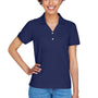 Devon & Jones Womens Short Sleeve Polo Shirt - Navy Blue