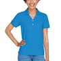 Devon & Jones Womens Short Sleeve Polo Shirt - French Blue