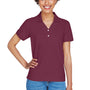 Devon & Jones Womens Short Sleeve Polo Shirt - Burgundy
