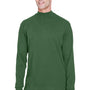 Devon & Jones Mens Sueded Jersey Long Sleeve Mock Neck T-Shirt - Forest Green