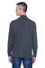Devon & Jones D420 Mens Sueded Jersey Long Sleeve Mock Neck T-Shirt Navy Blue Back