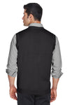 Devon & Jones D477 Mens Wrinkle Resistant V-Neck Sweater Vest Black Back