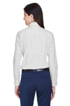 Devon & Jones D640W Womens Crown Woven Collection Wrinkle Resistant Long Sleeve Button Down Shirt Silver Grey Back