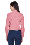 Devon & Jones D640W Womens Crown Woven Collection Wrinkle Resistant Long Sleeve Button Down Shirt Red Back