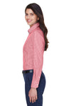 Devon & Jones D640W Womens Crown Woven Collection Wrinkle Resistant Long Sleeve Button Down Shirt Red Side