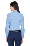 Devon & Jones D640W Womens Crown Woven Collection Wrinkle Resistant Long Sleeve Button Down Shirt French Blue Back