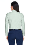 Devon & Jones D645W Womens Crown Woven Collection Wrinkle Resistant Long Sleeve Button Down Shirt Dill Green Back
