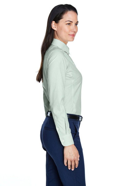 Devon & Jones D645W Womens Crown Woven Collection Wrinkle Resistant Long Sleeve Button Down Shirt Dill Green Side