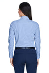 Devon & Jones D645W Womens Crown Woven Collection Wrinkle Resistant Long Sleeve Button Down Shirt French Blue Back
