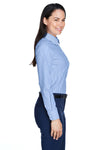 Devon & Jones D645W Womens Crown Woven Collection Wrinkle Resistant Long Sleeve Button Down Shirt French Blue Side