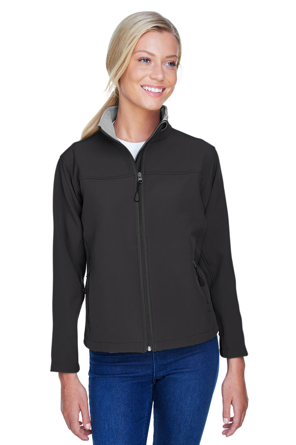 Devon & Jones D995W Womens Wind & Water Resistant Full Zip Jacket Black Front