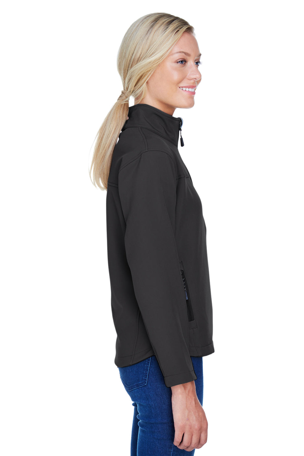 Devon & Jones D995W Womens Wind & Water Resistant Full Zip Jacket Black Side