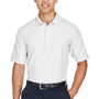Devon & Jones Mens DryTec20 Performance Moisture Wicking Short Sleeve Polo Shirt - White