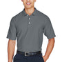Devon & Jones Mens DryTec20 Performance Moisture Wicking Short Sleeve Polo Shirt - Graphite Grey