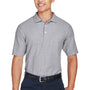 Devon & Jones Mens DryTec20 Performance Moisture Wicking Short Sleeve Polo Shirt - Heather Grey