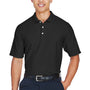 Devon & Jones Mens DryTec20 Performance Moisture Wicking Short Sleeve Polo Shirt - Black