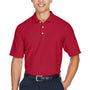 Devon & Jones Mens DryTec20 Performance Moisture Wicking Short Sleeve Polo Shirt - Red