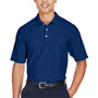 Devon & Jones Mens DryTec20 Performance Moisture Wicking Short Sleeve Polo Shirt - True Royal Blue