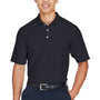 Devon & Jones Mens DryTec20 Performance Moisture Wicking Short Sleeve Polo Shirt - Navy Blue