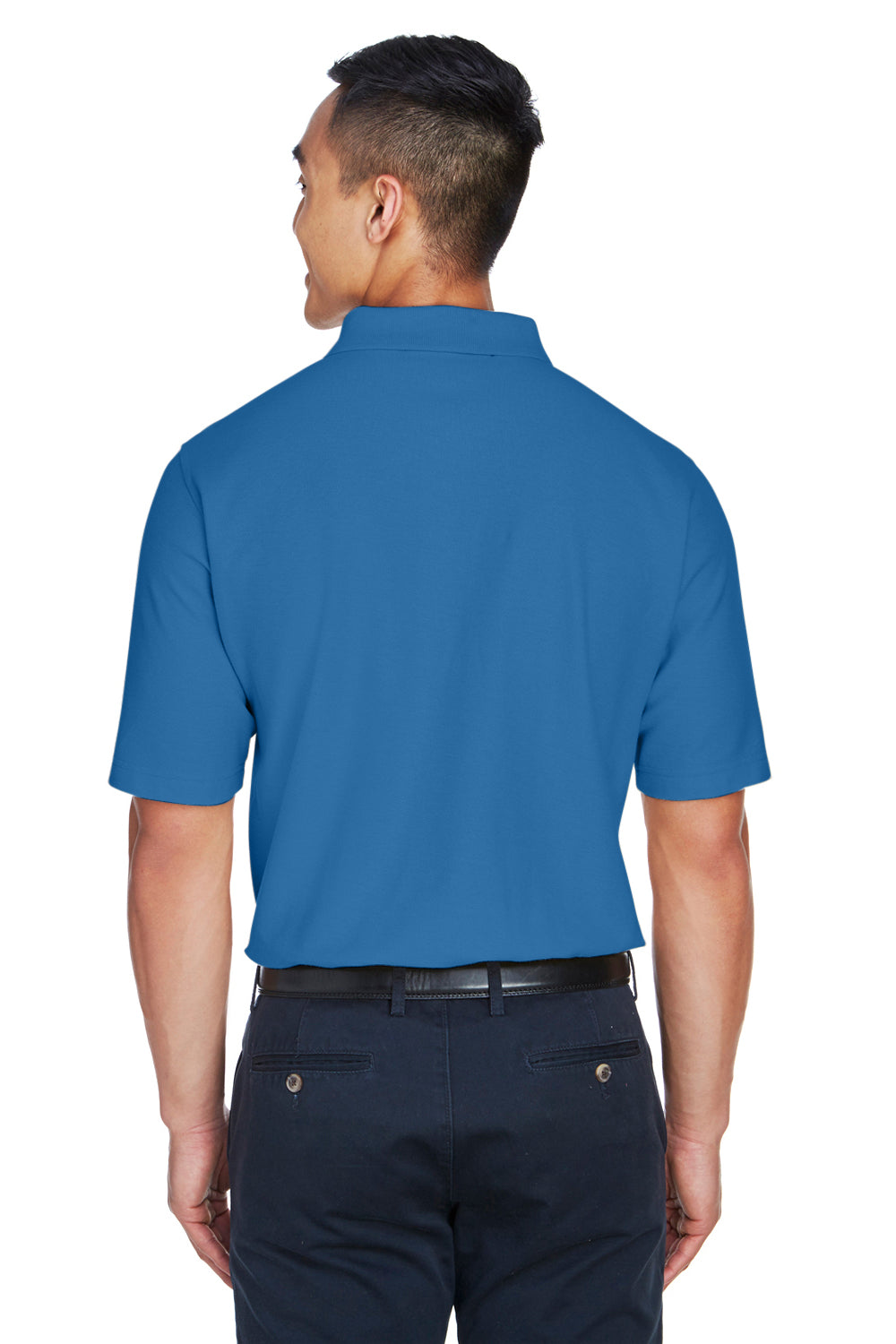 Devon & Jones DG150 Mens DryTec20 Performance Moisture Wicking Short Sleeve Polo Shirt French Blue Back