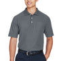 Devon & Jones Mens DryTec20 Performance Moisture Wicking Short Sleeve Polo Shirt w/ Pocket - Graphite Grey