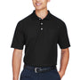 Devon & Jones Mens DryTec20 Performance Moisture Wicking Short Sleeve Polo Shirt w/ Pocket - Black