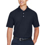 Devon & Jones Mens DryTec20 Performance Moisture Wicking Short Sleeve Polo Shirt w/ Pocket - Navy Blue