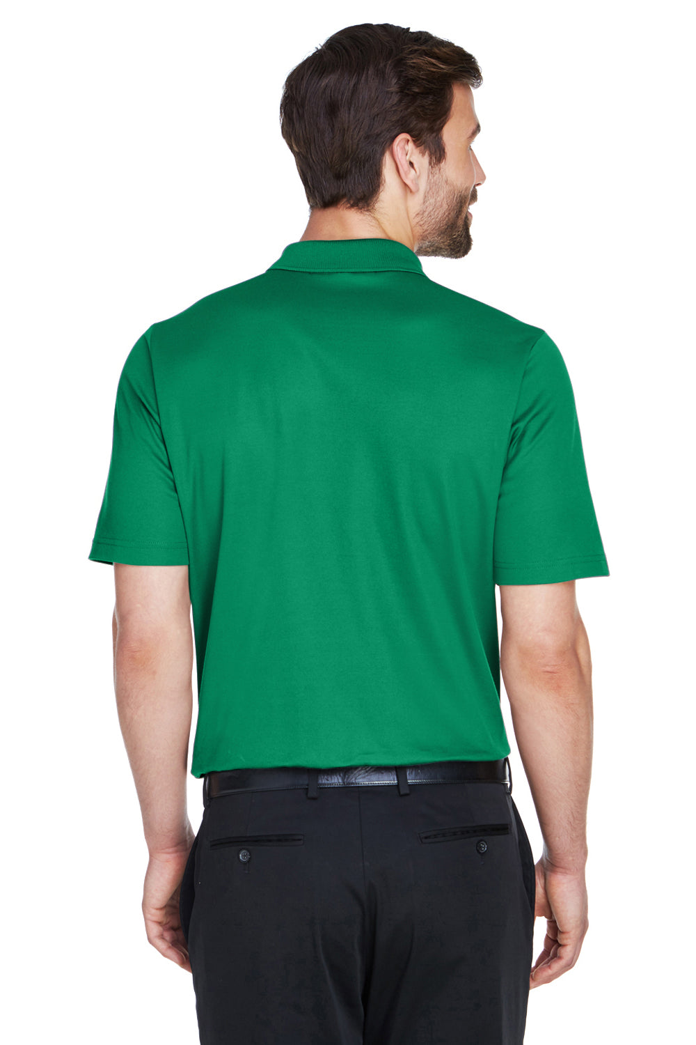Devon & Jones DG20 CrownLux Performance Moisture Wicking Short Sleeve Polo Shirt Kelly Green Back