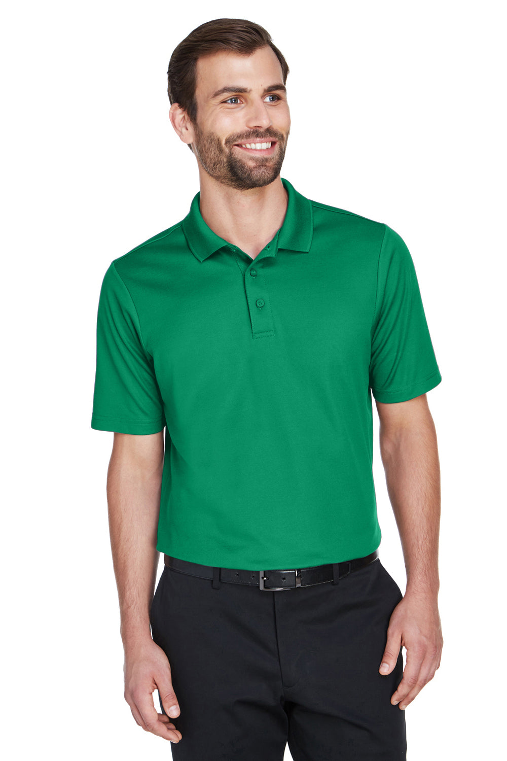 Devon & Jones DG20 CrownLux Performance Moisture Wicking Short Sleeve Polo Shirt Kelly Green Front